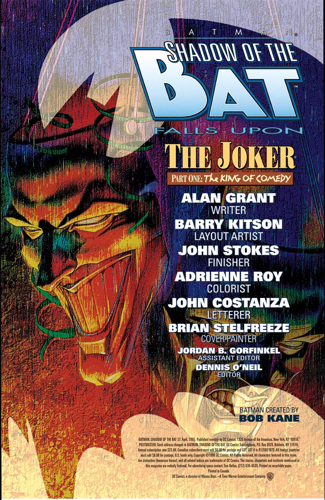 Batman: Shadow of the Bat 37 Page 2