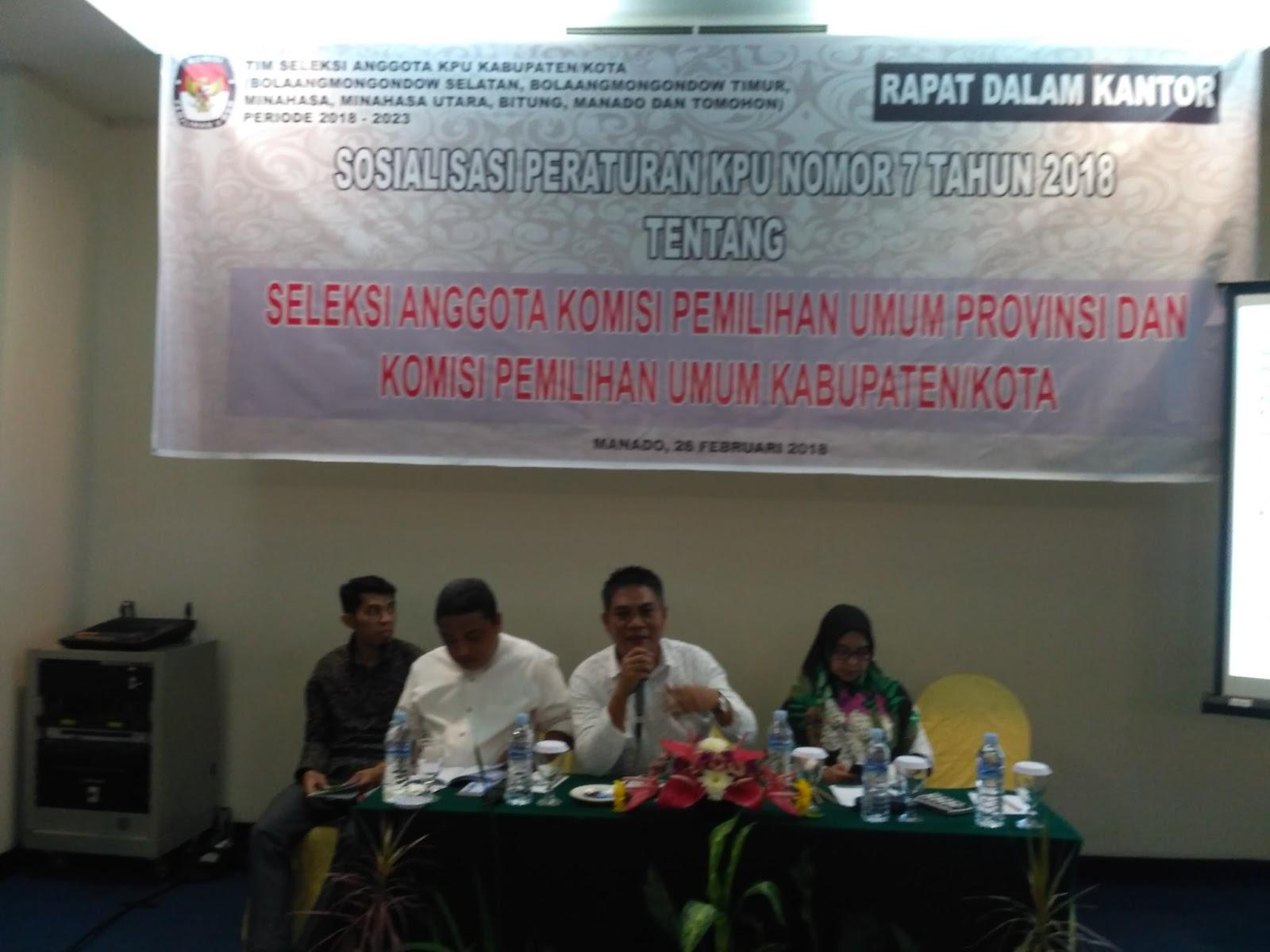 Taroreh Tegaskan Calon Anggota KPU Kabupaten/Kota di Sulut Harus Berpengalaman