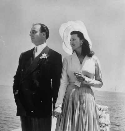 Jacques Fath Designed Gown for Rita Hayworth and Prince Aly Khan 1949 wedding