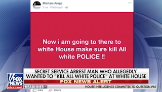 Secret Service: Man who reportedly traveled to DC to kill 'all white police' at White House arrested