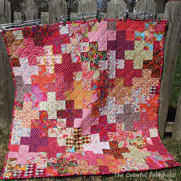 The Colorful Fabriholic Hands2help A Special Chemo Quilt
