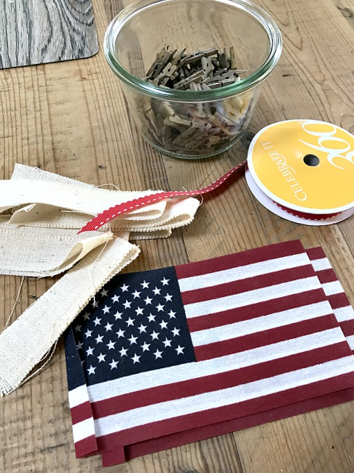 american flag garland supplies