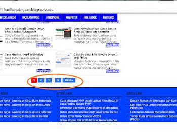 Cara Menampilkan Blog-Pager / Page Navigation pada Template Johny Wuss