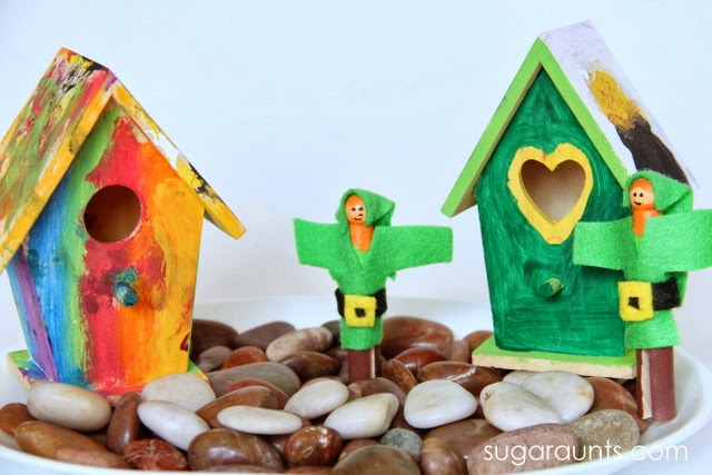 Play with imagination and pretend play with these leprachaun homes