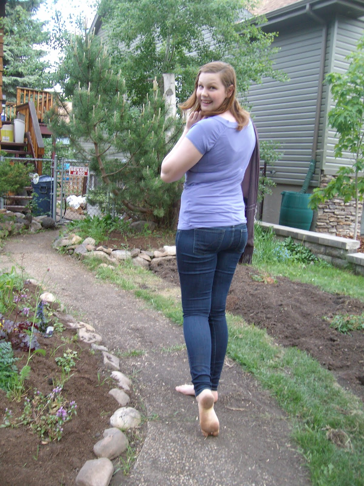 Dirty garden girl and sierra