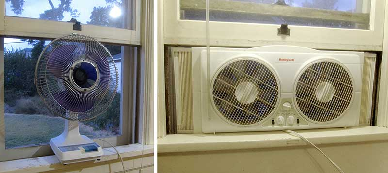 The window fan is pretty noisy so I would usually close a door between it and the bedroom. & Danu0027s Diary: Who Needs Air Conditioning?