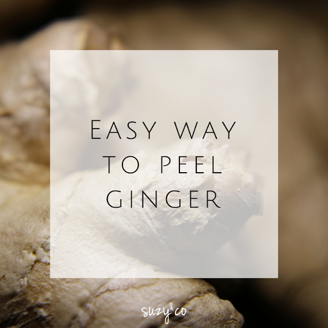 Easy way to peel ginger.