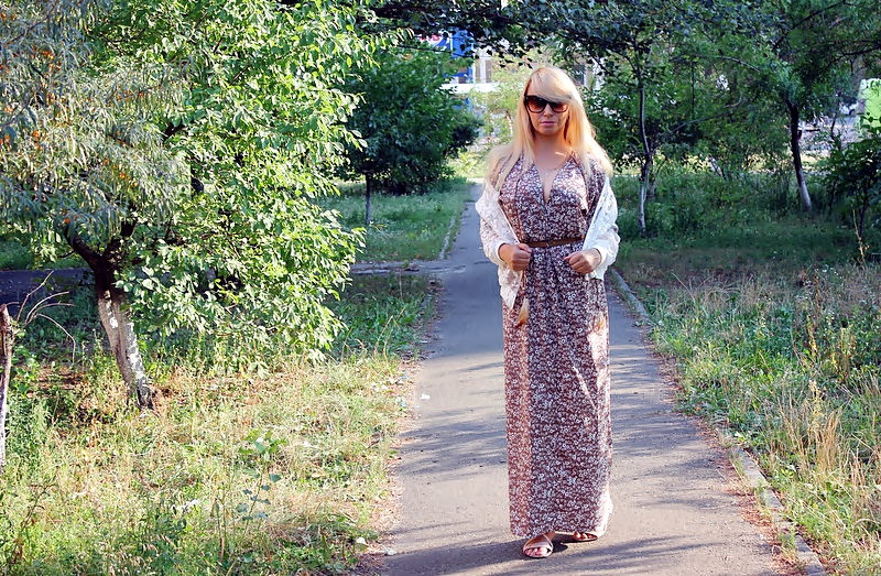 ZAFUL Haul: Floral Relaxed Maxi Dress & Floral Embroidered Jacket. Цветочный принт - макси-платье и вышитый бомбер / обзор, отзывы