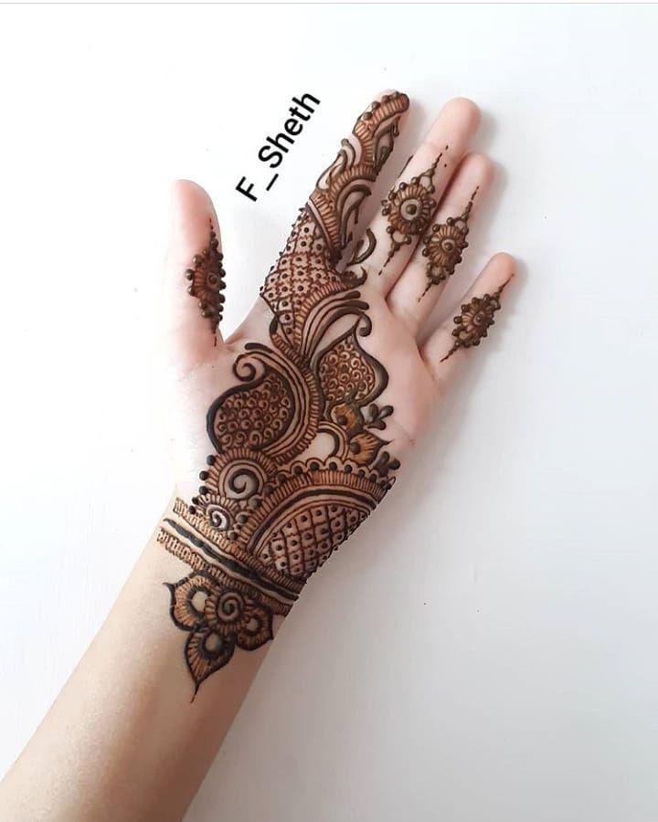 left hand mehndi design