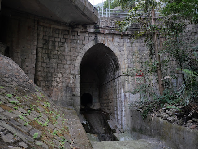 Below the Glenealy Flyover in Hong Kong