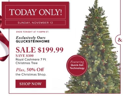 Hudson's Bay Glucksteinhome Christmas Tree $300 Off + 50% Off Christmas Shop