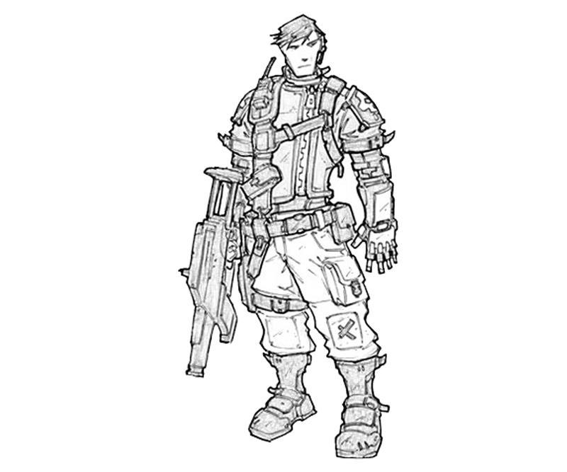 Borderlands coloring pages ~ Borderlands 2 Axton Commando   Yumiko Fujiwara