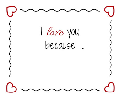 I Love You Because.... PDF free printable