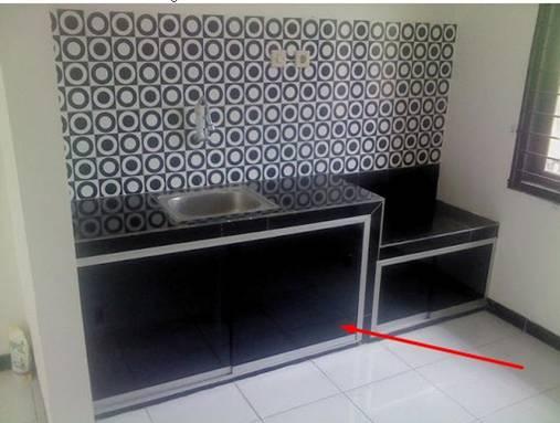 lemari dapur alumunium
