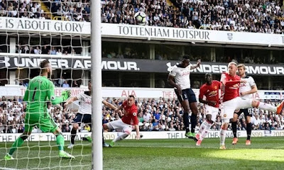 Tottenham defeat Man Utd 2-1 to stay second on the Premier League table