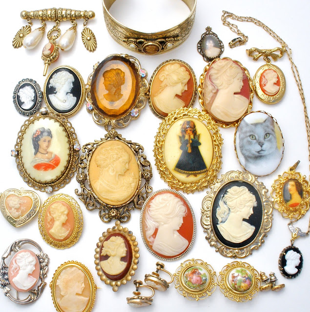 Vintage cameo lot can be found here: