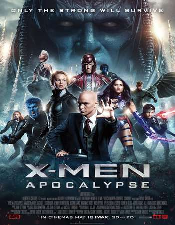 X-Men Apocalypse 2016 ORG Dual Audio Hindi 450MB BRRip 480p x264 ESubs