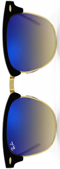 Ray-Ban Clubmaster Blue Gradient Flash
