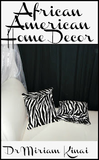 African American Home Decor uses color pictures and clear explanations to teach you five key interior decorating ingredients so that you can choose home decor accents that are appropriate for an African American home decoration theme.  This interior design book also contains practical examples showing you how to decorate a living room, bedroom and bathroom with an African American home decor theme and make it five dimensional.
