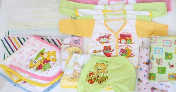 Perlengkapan bayi, sarung tangan dan kaos kaki