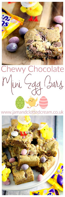Chewy Chocolate Mini Egg Blondie Bars