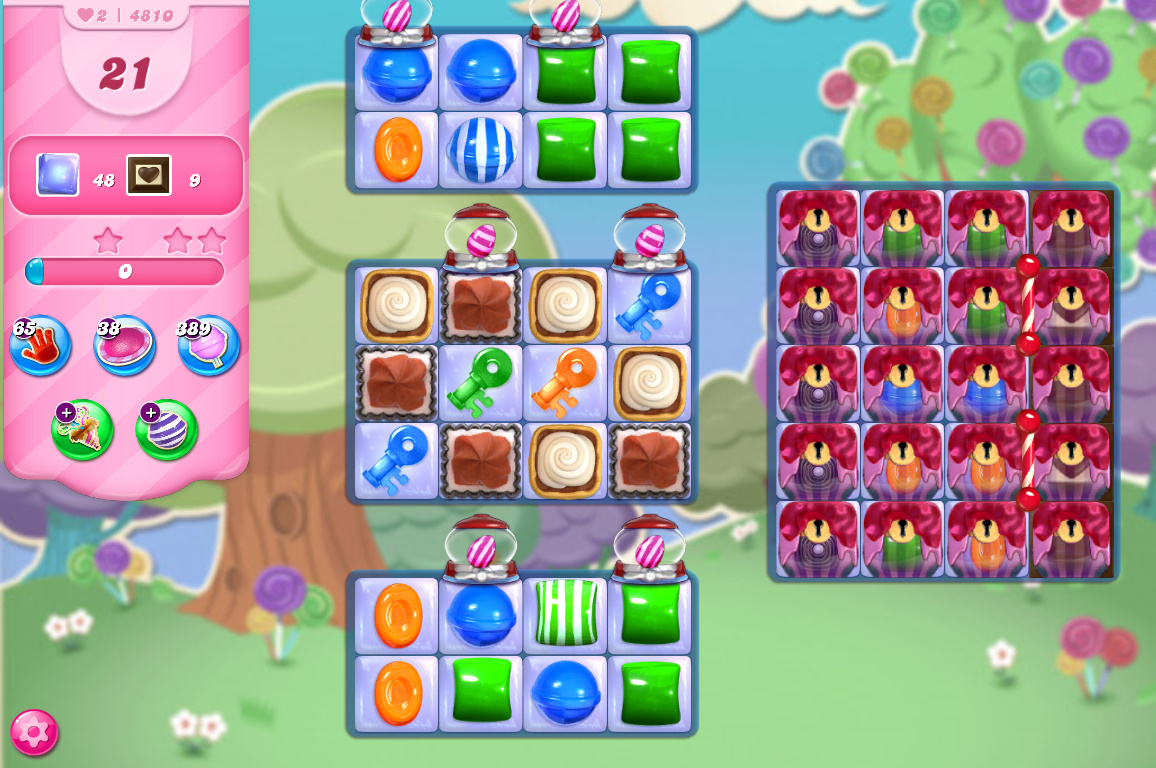 Candy Crush Saga level 4810