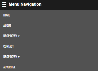 Navigasi Menu Responsive Dropdown