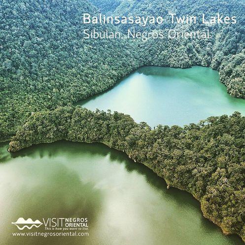 Balinsasayao Twin Lakes Natural Park near Dumaguete City