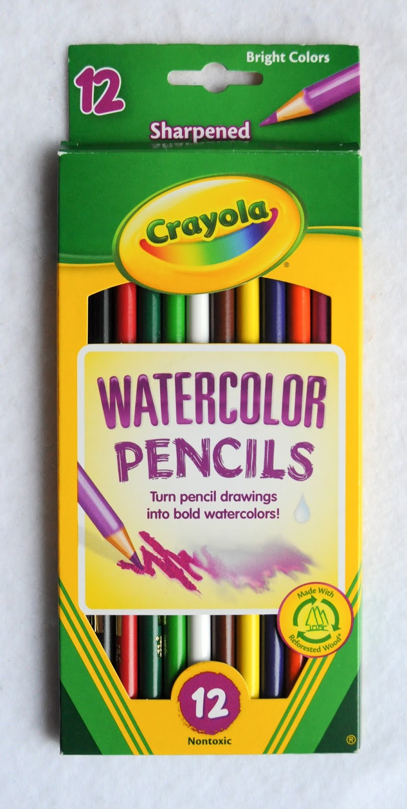 crayola water color pencils what s inside the box jenny s crayon