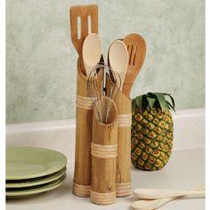 tempat sendok sederhana dari bambu