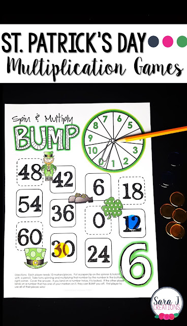St. Patrick's Day multiplication games for learning fun!