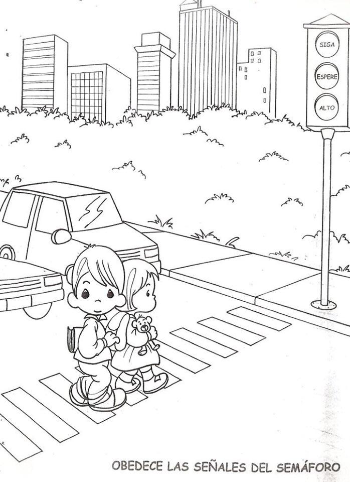 obedece las señales del semáforo