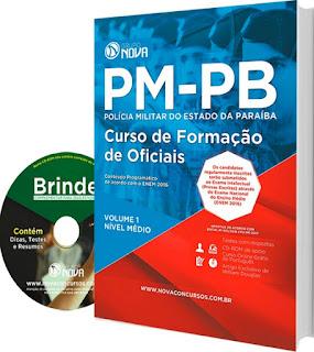 Apostila PM PB Impressa Curso de Formação de Oficiais (PMPB) CFO PM-PB - Polícia Militar do Estado da Paraíba.