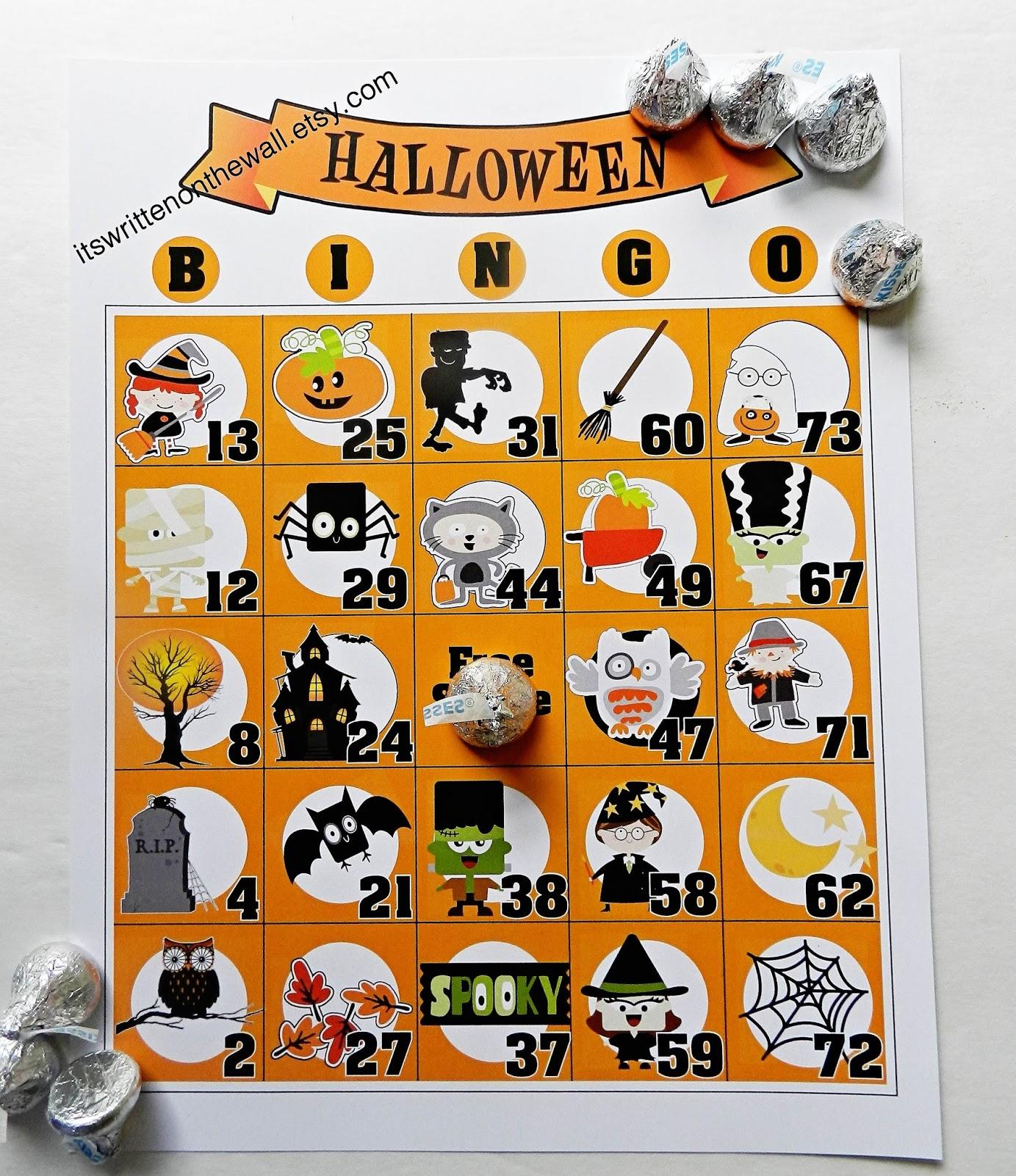 It S Written On The Wall Brand New Halloween Bingo Games
