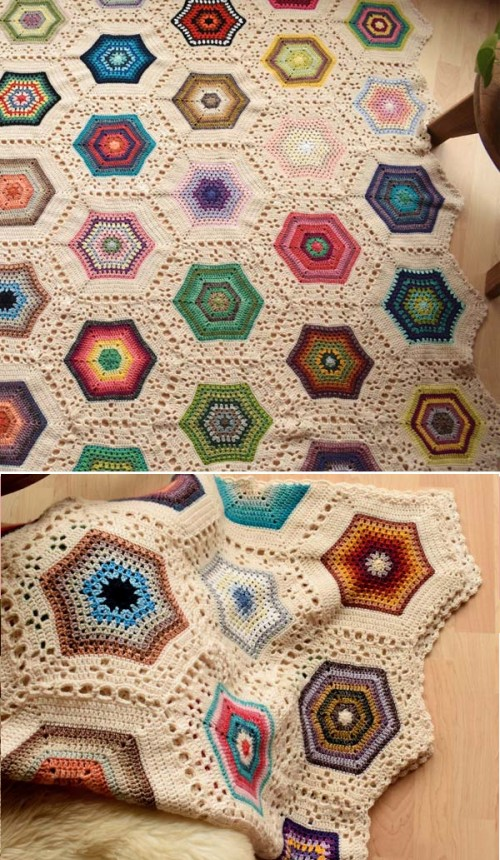 The Inspirational Hexies Blanket - Free Pattern
