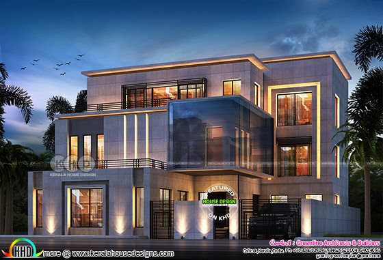 7 bedroom contemporary home design plan