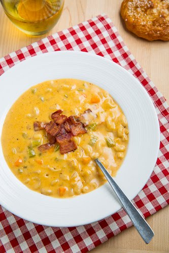 Beer Mac n Cheese Soup