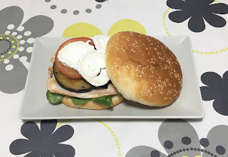 Chicken and eggplant burger