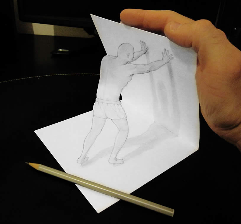 Attractive 3D Drawing - Anamorphic Art