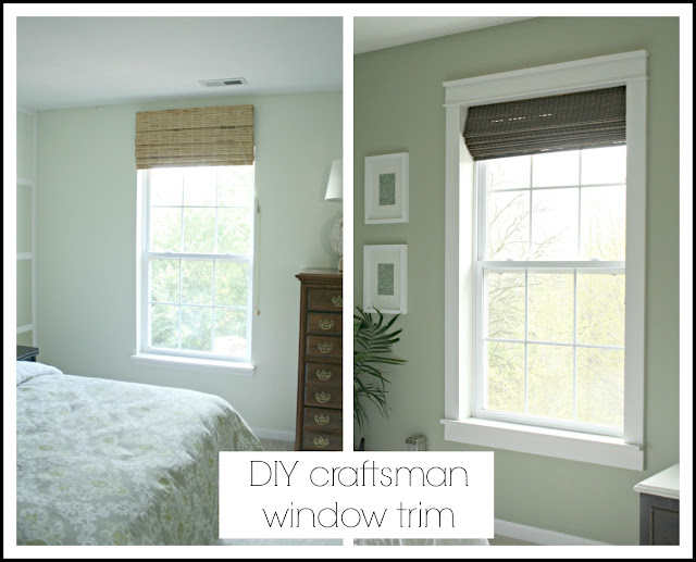DIY farmhouse window trim