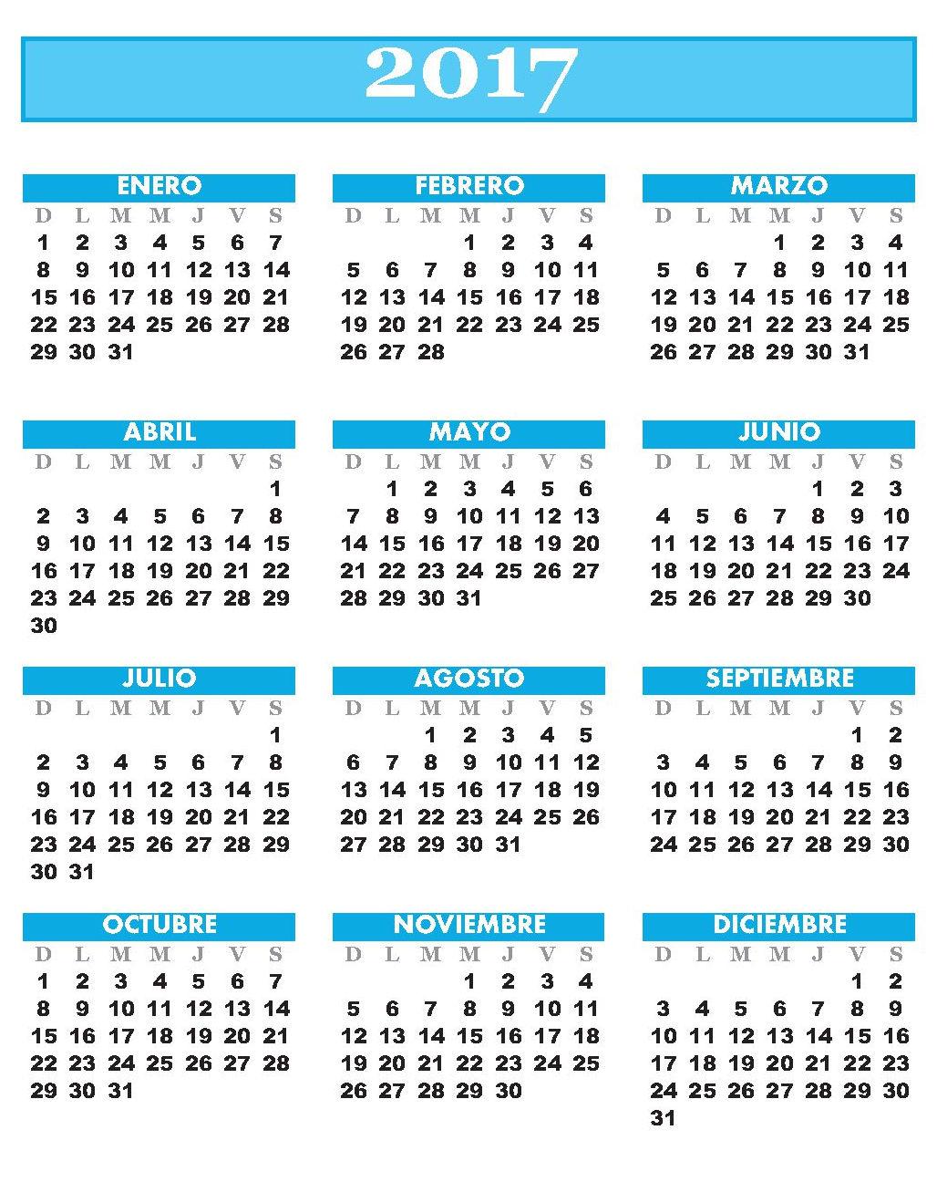 Almanaques: Almanaque 2017