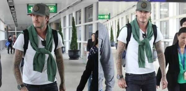 NMĐT - Phong cách thời trang sân bay của David Beckham
