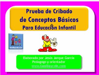PRUEBA DE EVALUACIÓN DE LOS CONCEPTOS BÁSICOS EN EDUCACIÓN INFANTIL