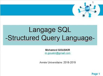 Cours Langage SQL - Mohamed GOUSKIR
