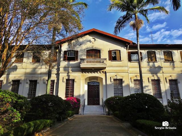 Vista da fachada do Museu Vicente de Azevedo - Ipiranga - São Paulo