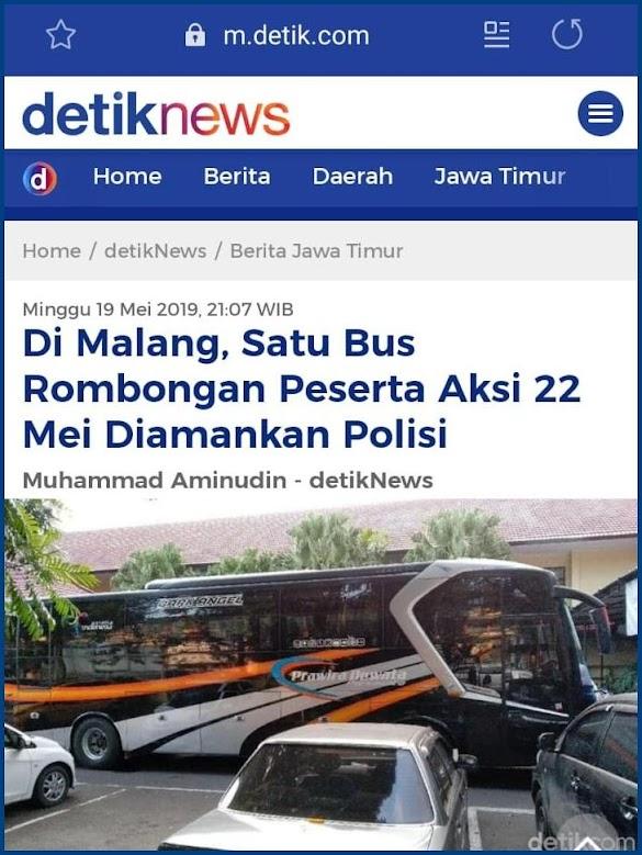 Bus Rombongan Aksi 22 Mei Diamankan Polisi, Ustadz Abrar: Aparat Kembali Mengulang Kesalahan Seperti 411 212