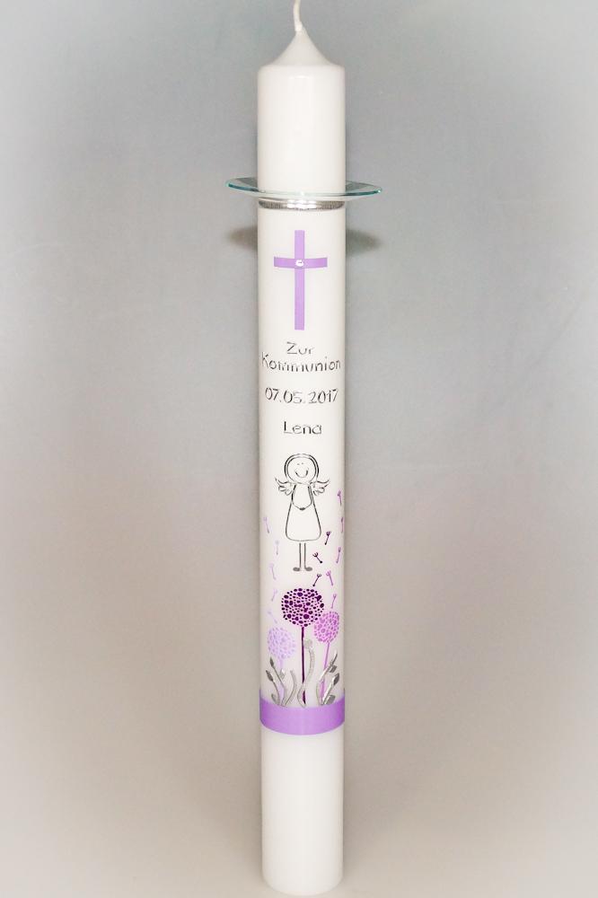 Pusteblumen Zur Kommunion Sp Kerzen Sannis Kerzen Nach Wunsch