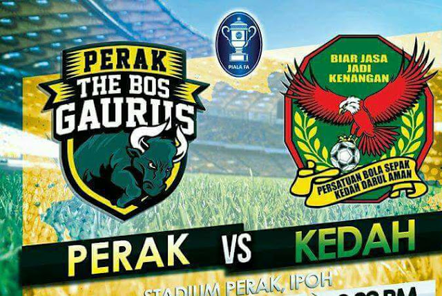 Live Streaming Keputusan Perak Vs Kedah Liga Super 26 April 2017