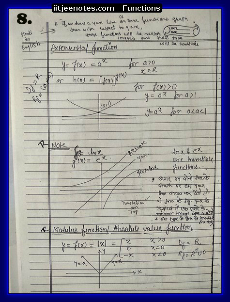 functions notes 8