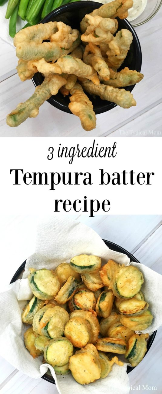 3 Ingredients Tempura Batter